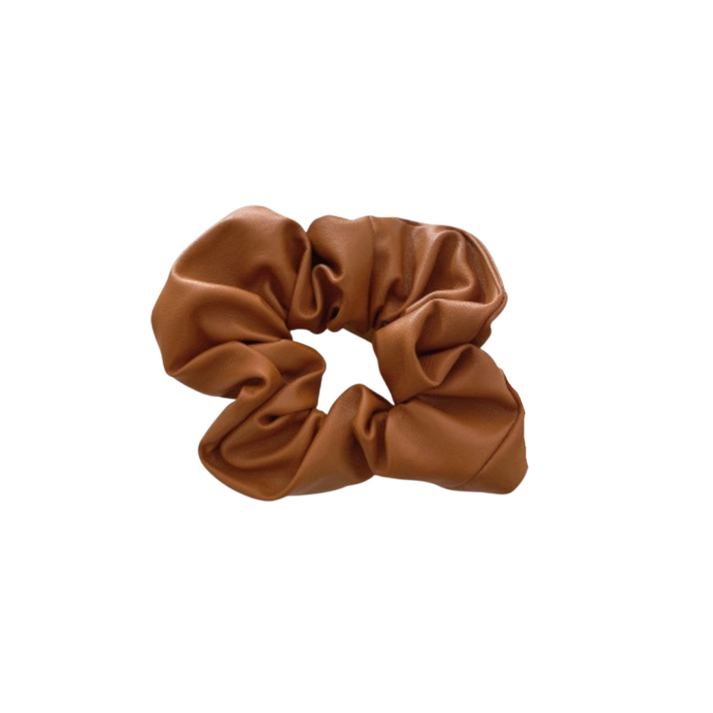 The Tan Leather Scrunchie