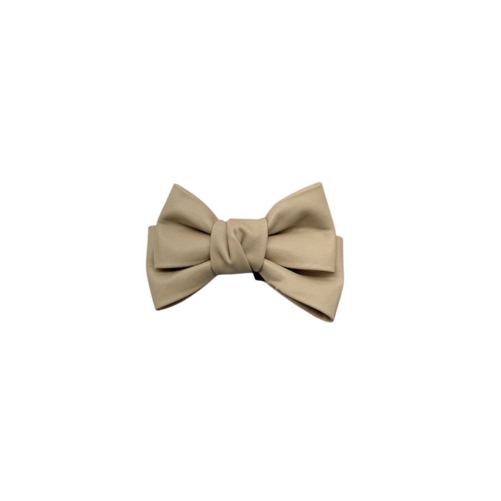 Paulette Leather Bow Hair Slide