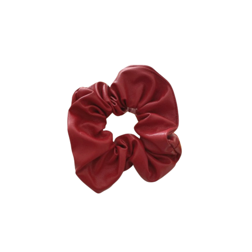 The Red Leather Scrunchie