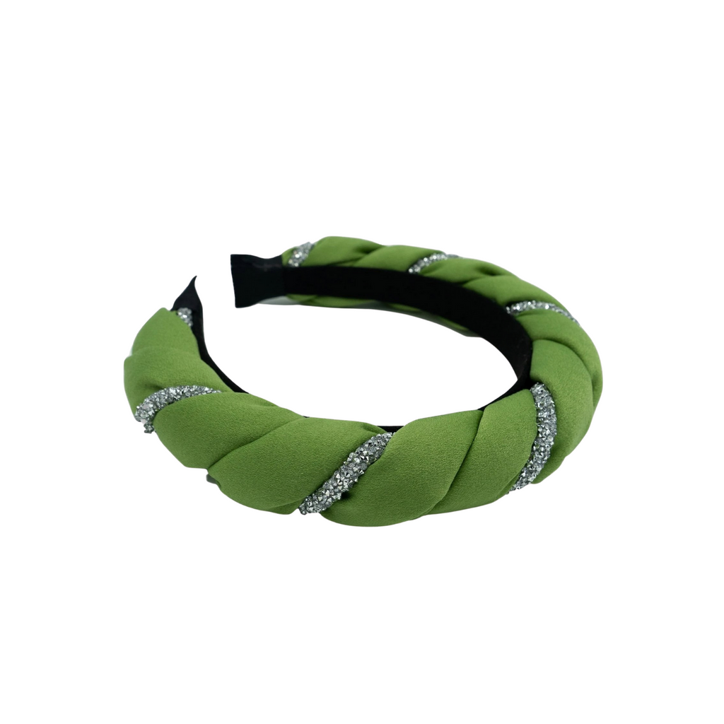Bimba Green Silk Twist Headband