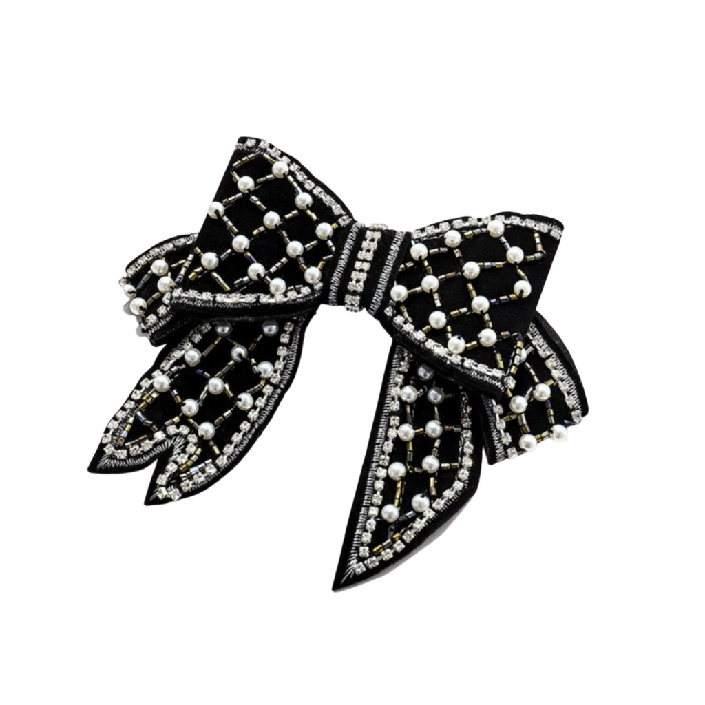 Chantal Embellished Bow Barrette