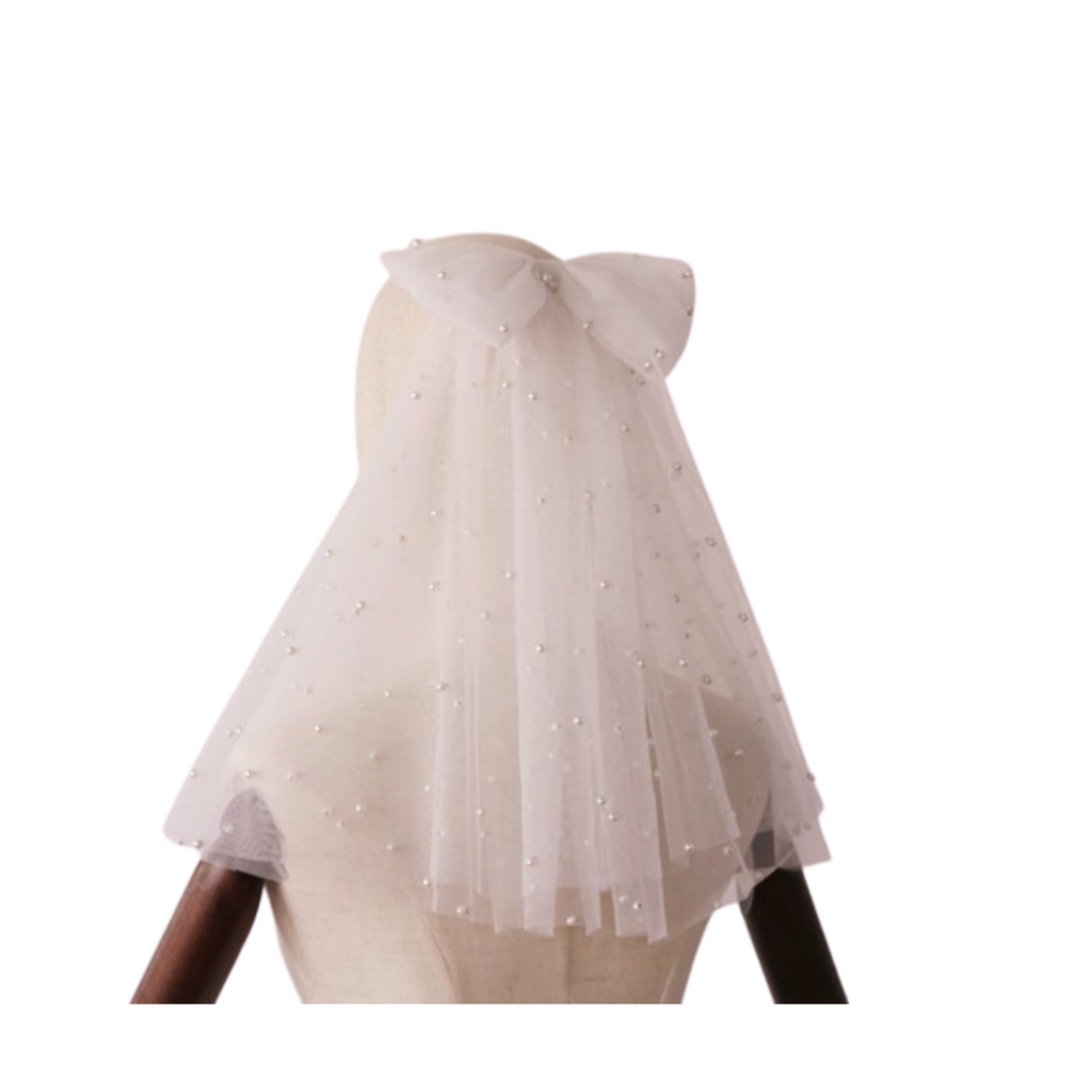 Pia Pearl and Bow Bride Veil