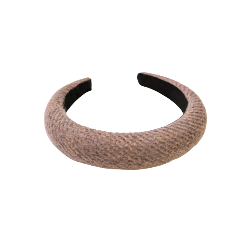 Brown Wool Padded Headband
