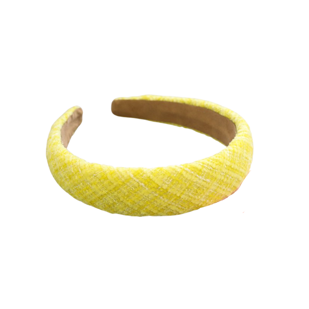 Coco Yellow Tweed Headband