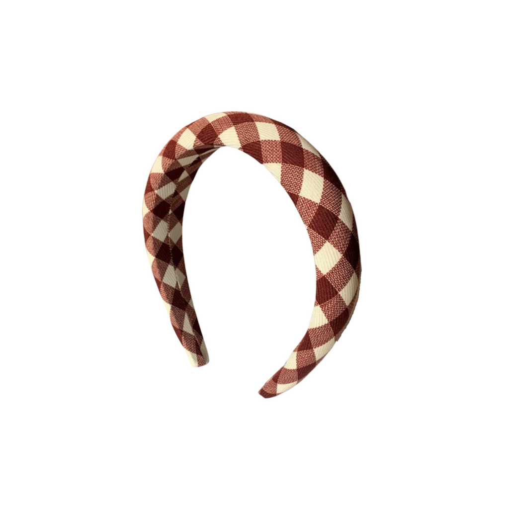 Harper Red and White Plaid Headband