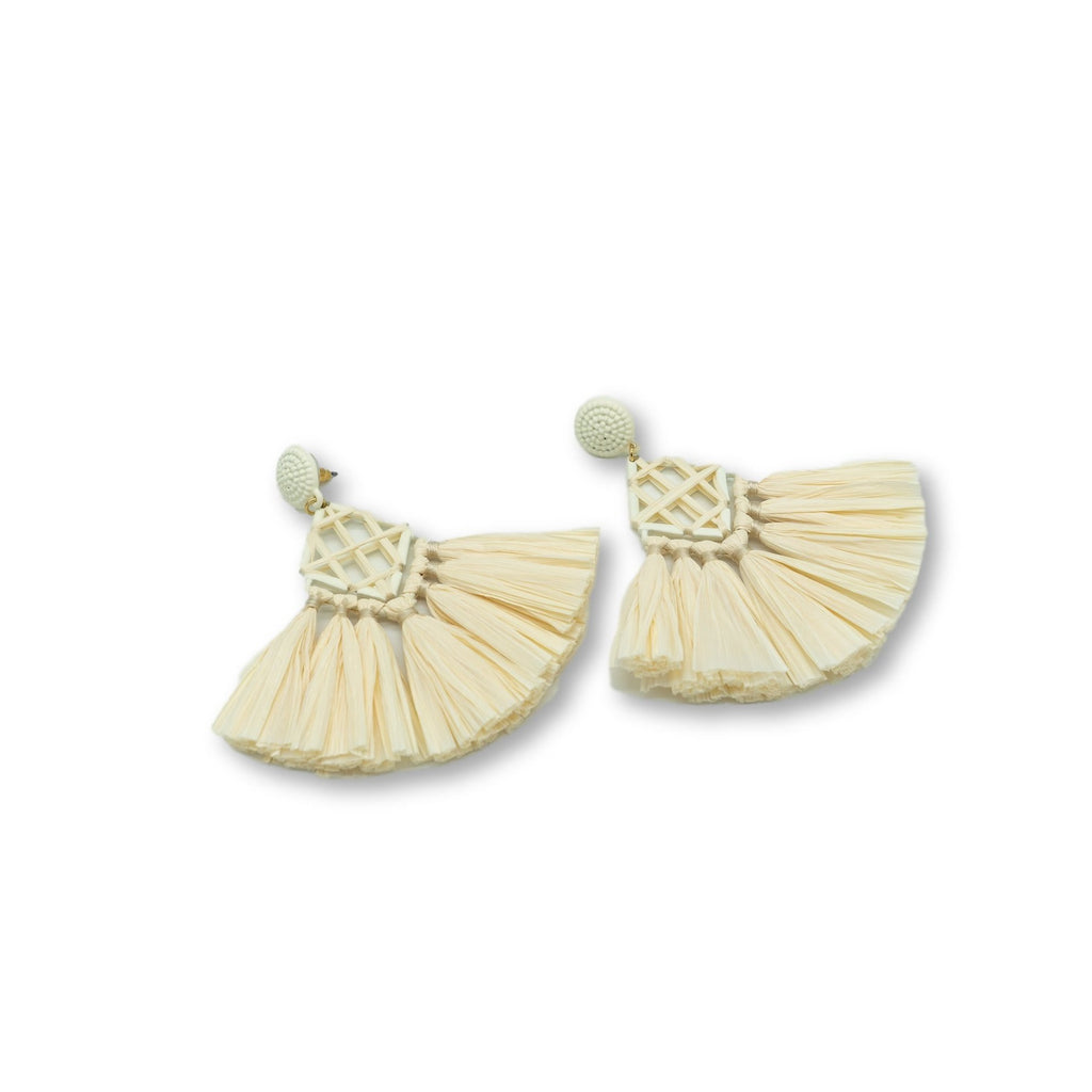 Rianne Raffia Drop Earrings - Giulio accessories