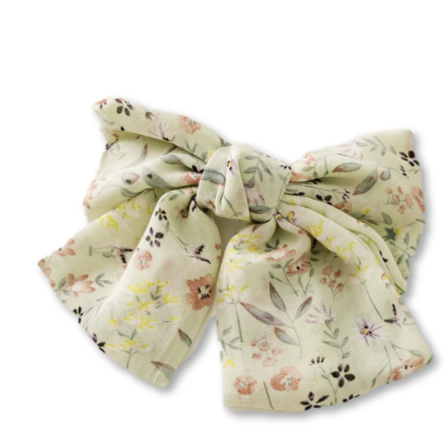 Dahlia Silk Bow Barrette - Giulio accessories