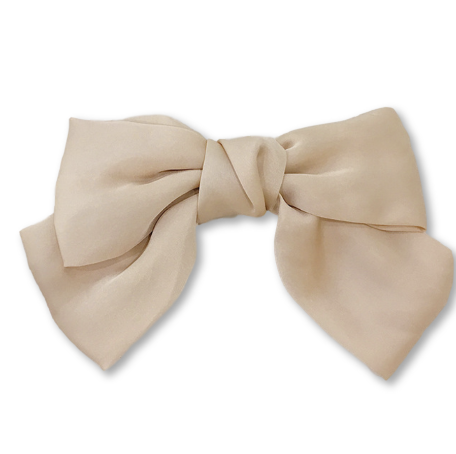 Daisy Silk Bow Barrette - Giulio accessories