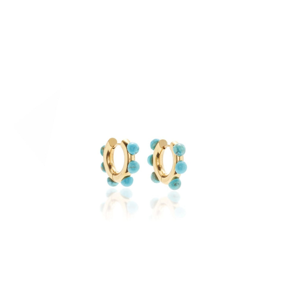 Marina Beaded Hoops - Giulio accessories