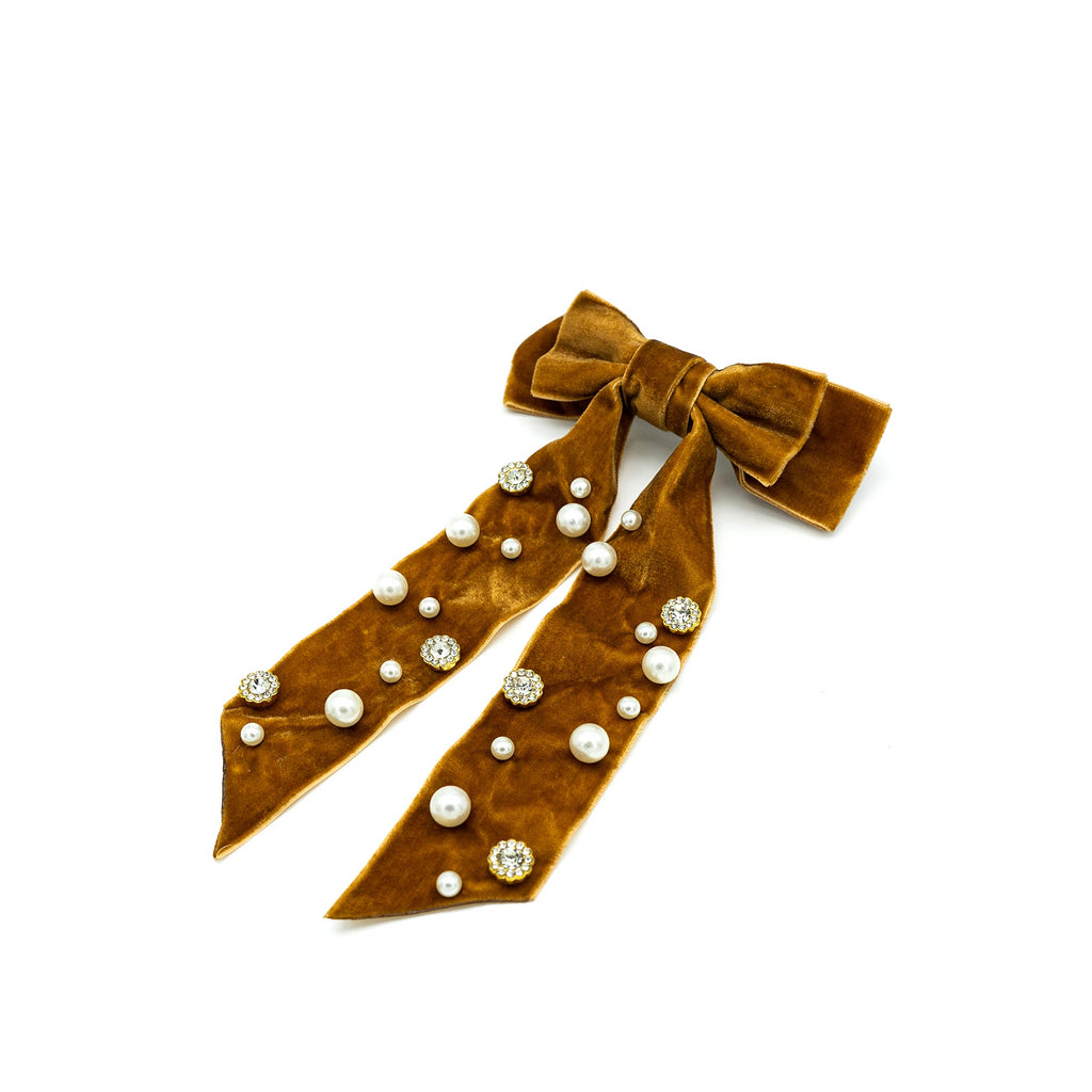Ivy Bow Barrette - Giulio accessories