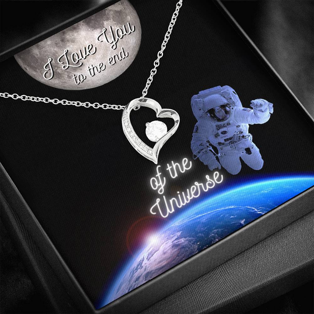 I Love You to the end of the Universe - Heart Pendant