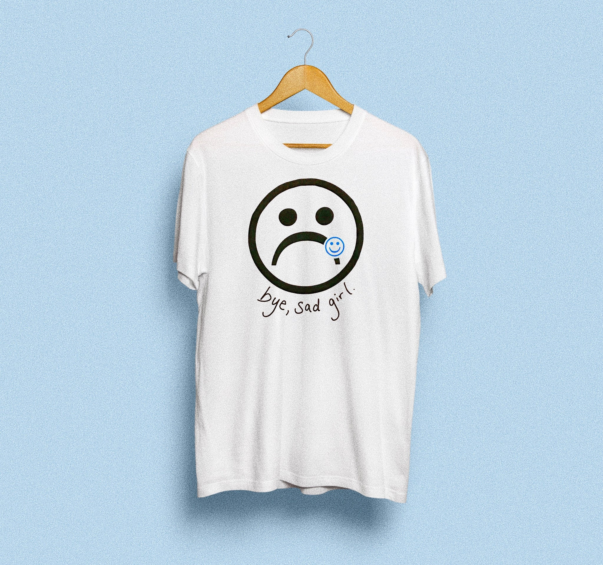Sad Girl Smiley Tee