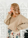 Blair Knit Jumper- Beige Tan - Mimi Lil & Co