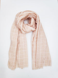 Cindy Blush Check Scarf - Mimi Lil & Co