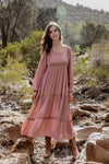 India Rose Maxi Dress Dusty Pink - Mimi Lil & Co