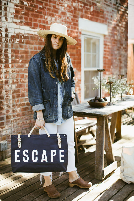 Forestbound ESCAPE Canvas Utility Bag in Navy