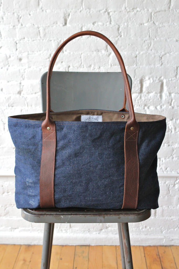 WWII era Denim Carryall