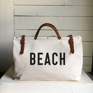 BEACH Canvas Utility Bag