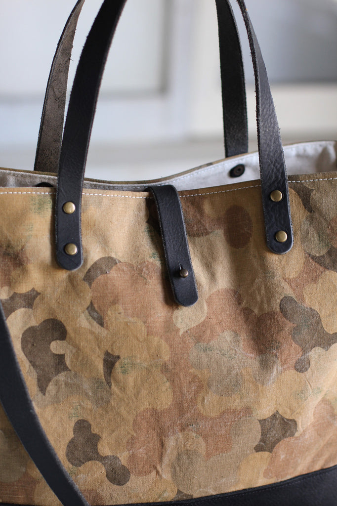 1950's era Cloud Camo Canvas Carryall