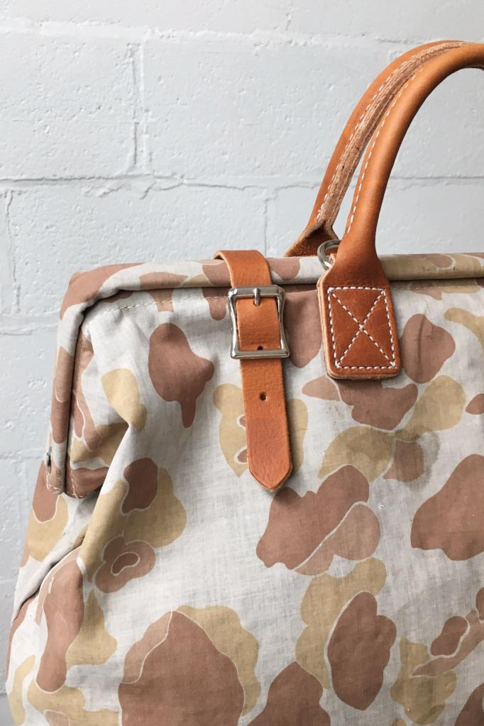 1940's era Salvaged Camo Carryall - SAMPLE