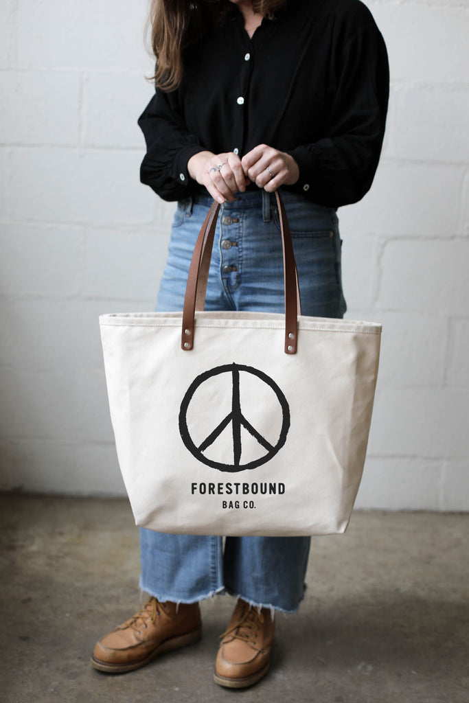 Forestbound Essential Canvas Tote - Peace