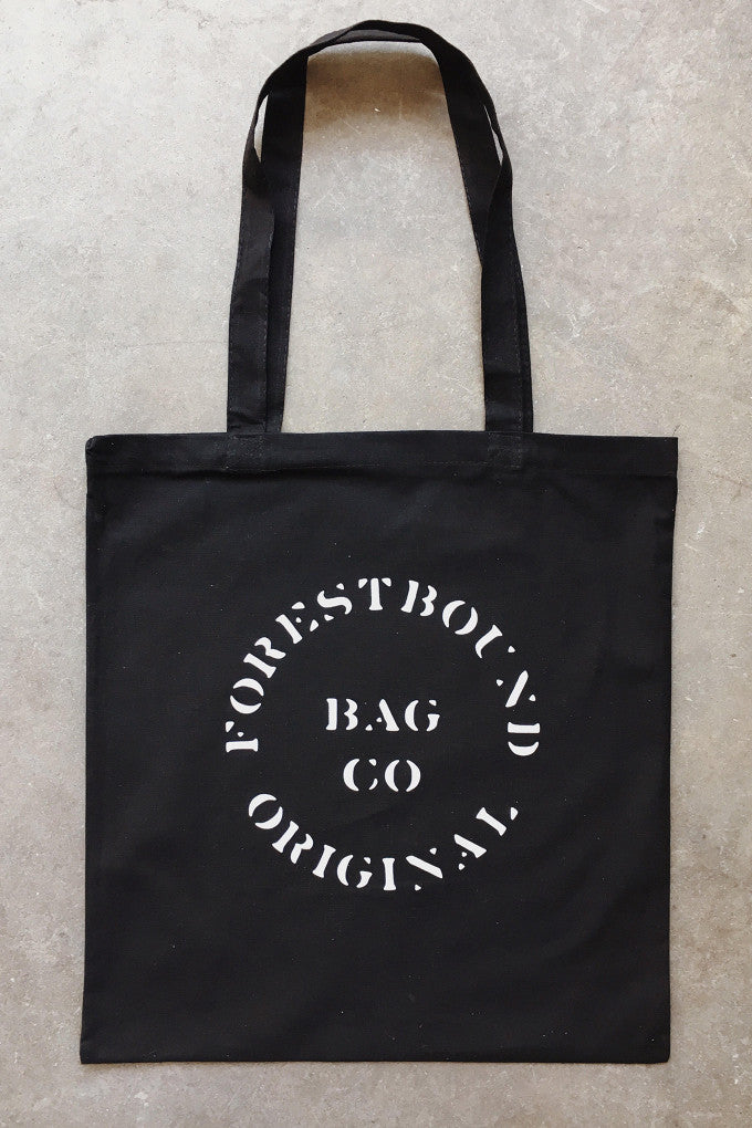 FORESTBOUND Bag Co. Cotton Tote Bag - Black