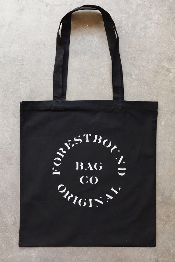 FORESTBOUND Bag Co. Cotton Tote Bag in Black
