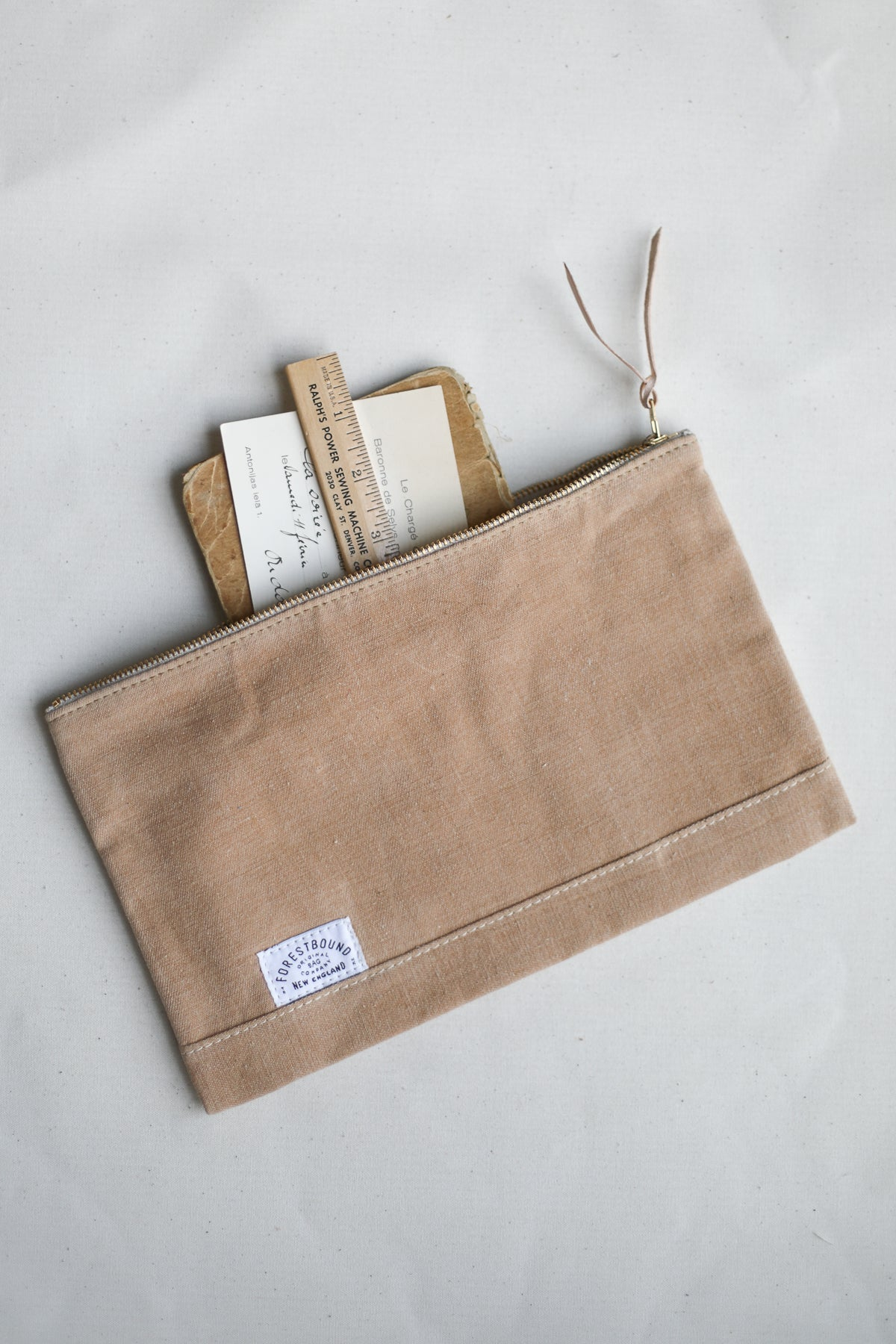 1940's era Salvaged Canvas Utility Pouch