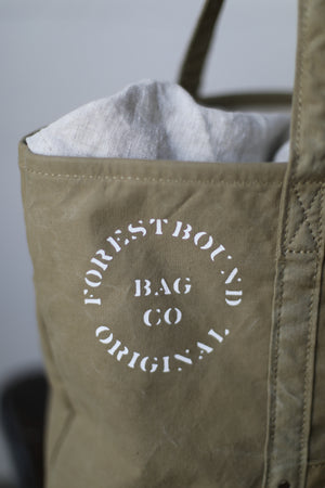 WWII Salvaged Canvas Tote Bag