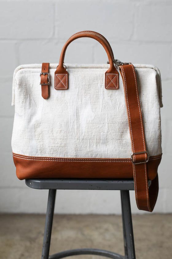 1950's era Salvaged Woven Fabric Carryall