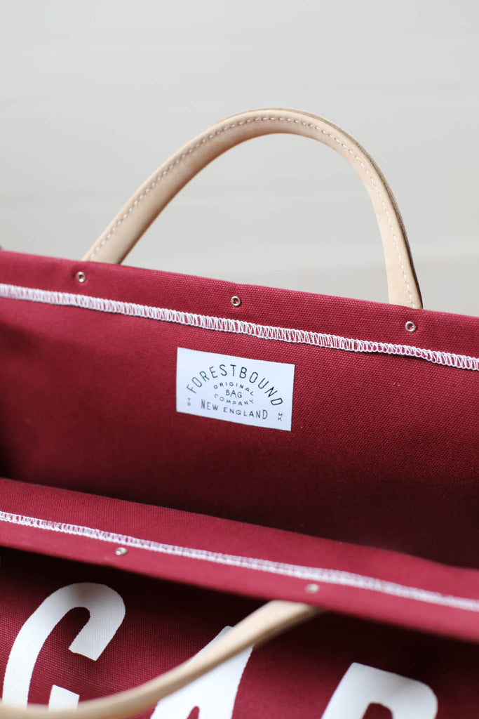 LIMITED EDITION - Forestbound ESCAPE Canvas Utility Bag in Cranberry