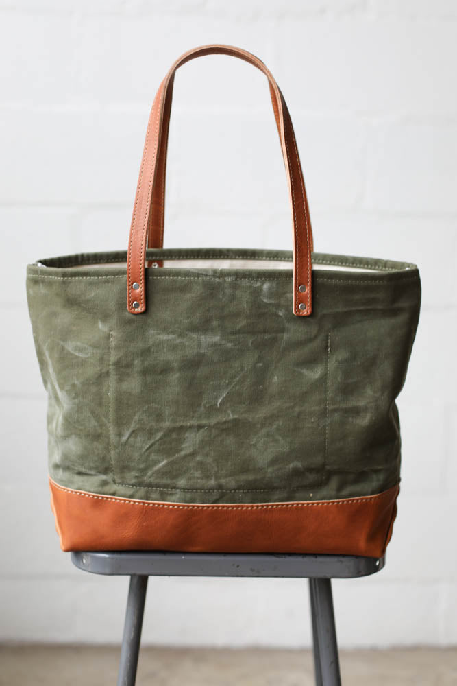WWII era Salvaged Canvas Everyday Tote Bag