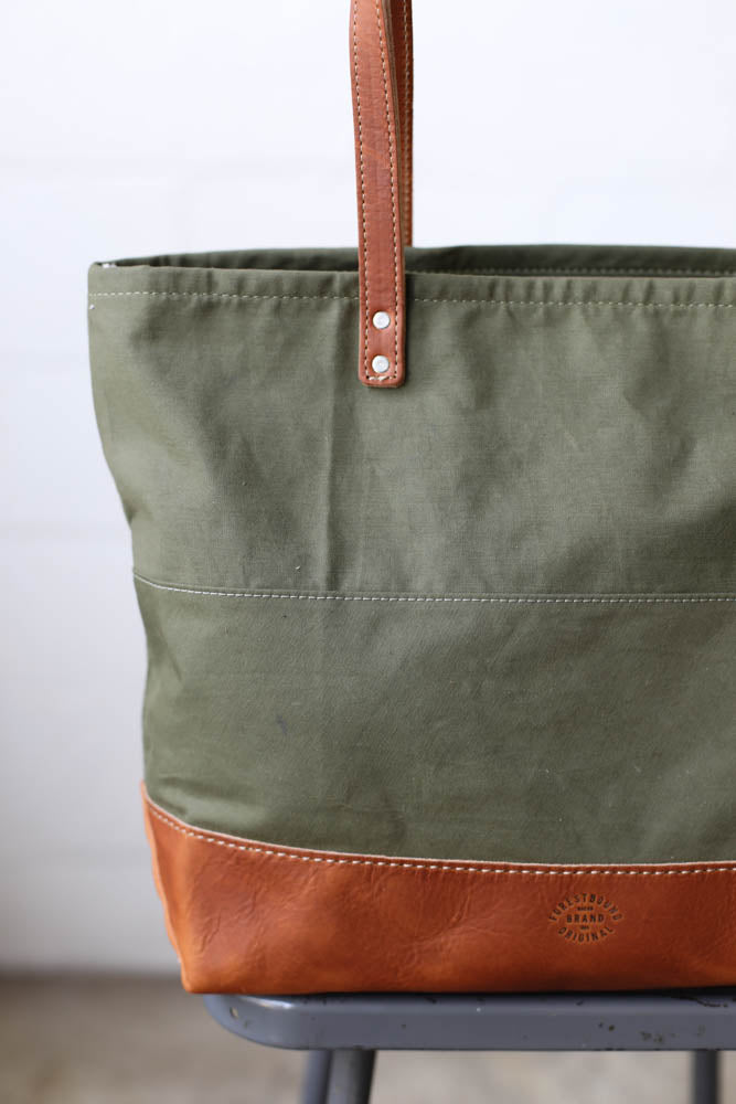 WWII era Salvaged Canvas Everyday Tote