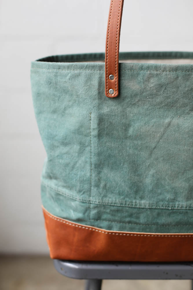 1960's era Salvaged Canvas Everyday Tote