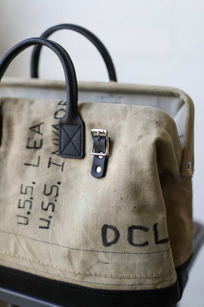 WWII era Salvaged Sea Bag Carryall