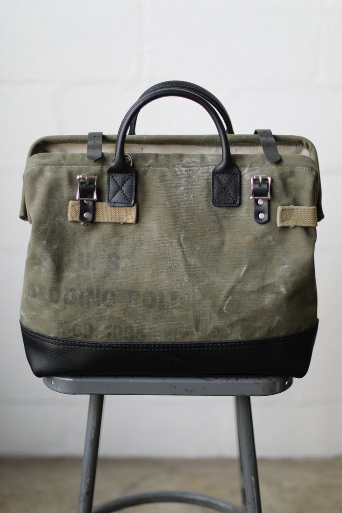1930's era Salvaged Military Canvas Carryall