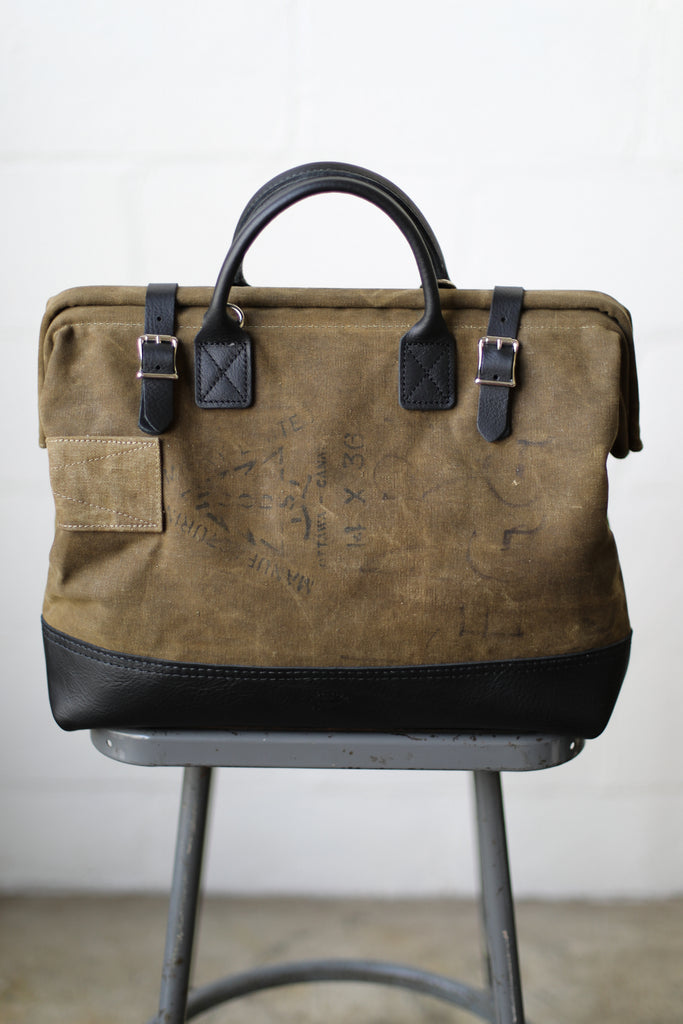 1930's era Salvaged Canvas Carryall