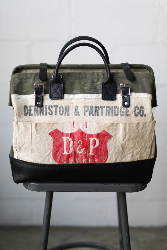 1940's era Salvaged Work Apron Carryall