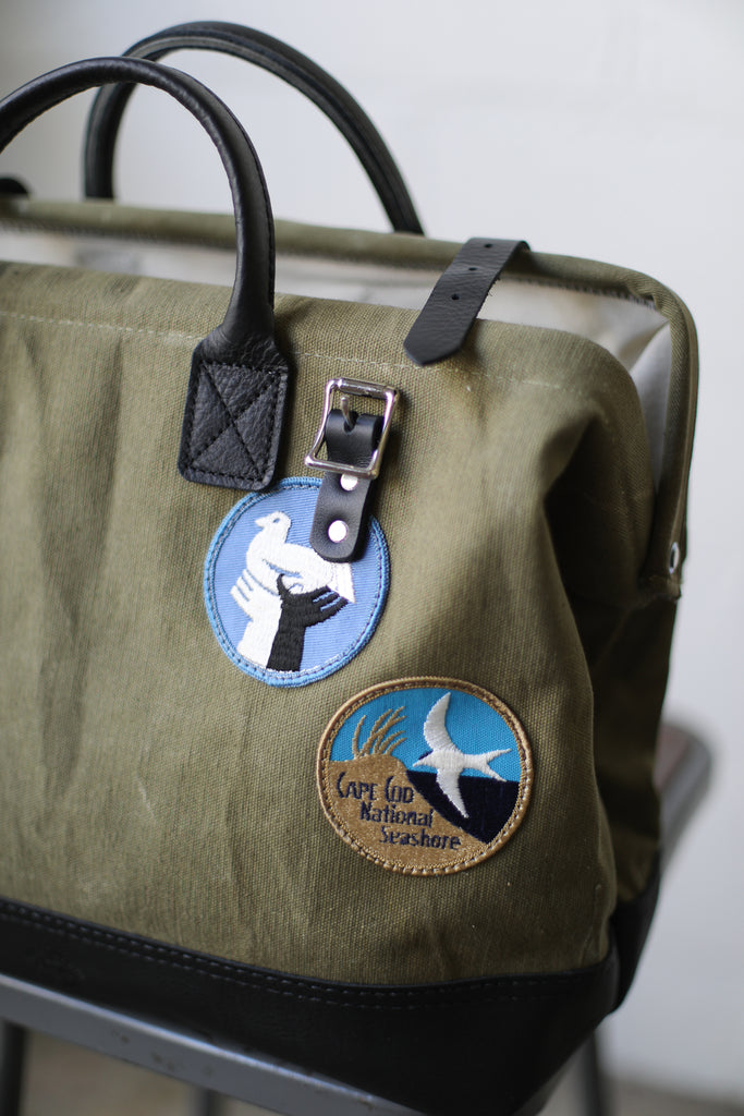 Patched WWII era Salvaged Canvas Carryall