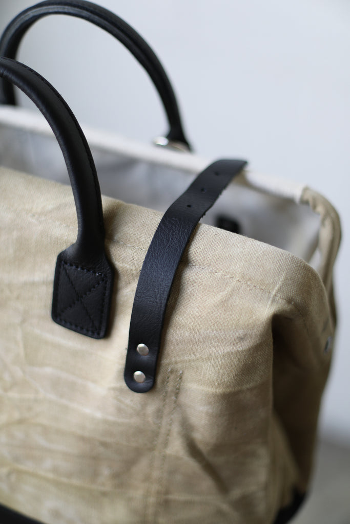 1940's era Salvaged Canvas & Work Apron Carryall