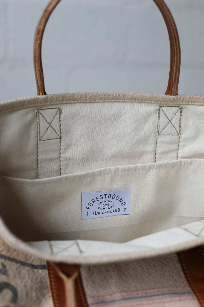 1950's era Salvaged Feedsack Carryall