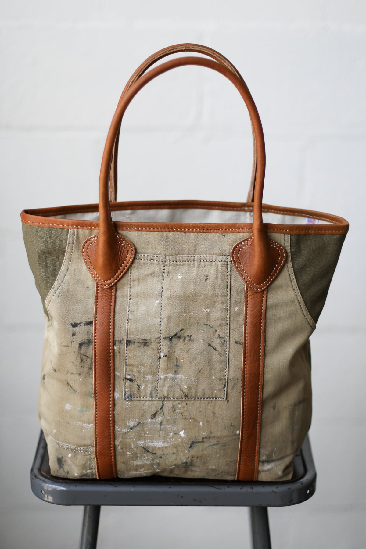 1940's era Salvaged Painter's Apron Tote Bag