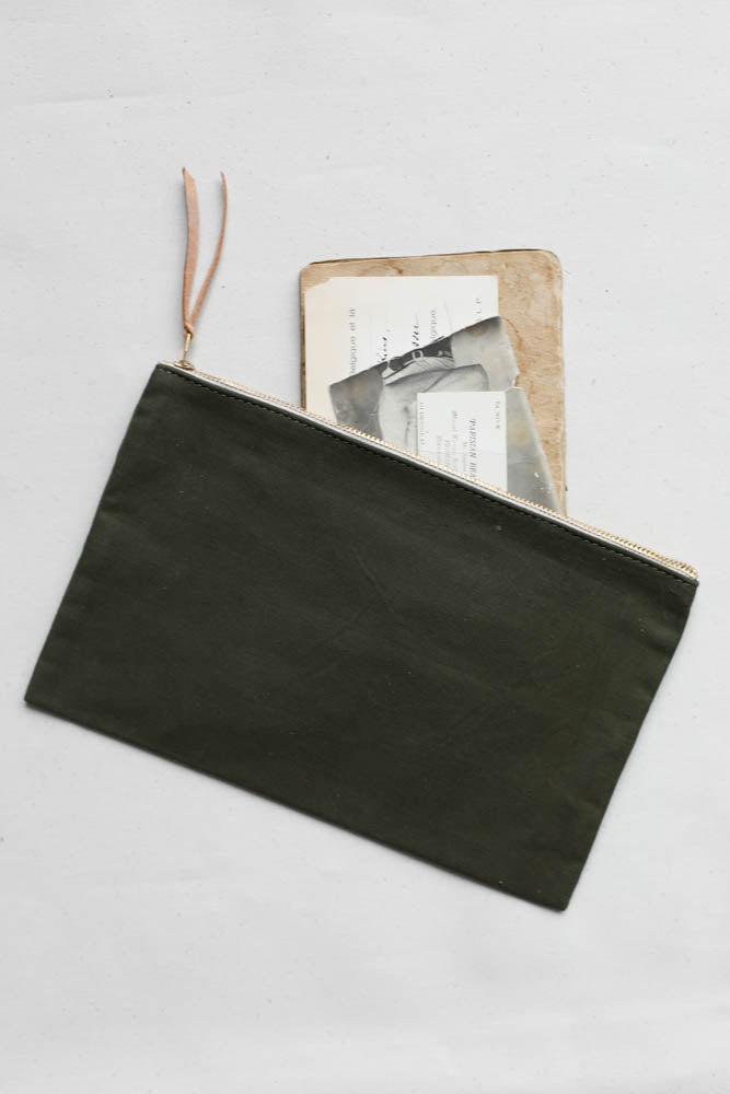 WWII era Military Canvas Utility Pouch