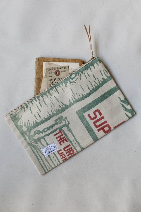 1950's Feed Sack Utility Pouch