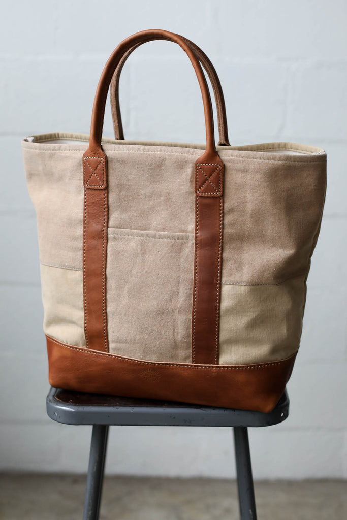 1950's era Salvaged Canvas Tote Bag