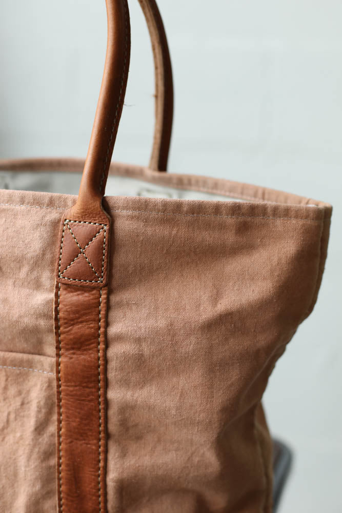 Folk Fibers x Forestbound Dyed Tote Bag - Madder