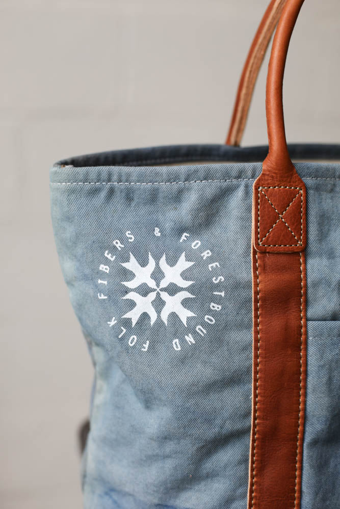 Folk Fibers x Forestbound Dyed Tote Bag - Indigo
