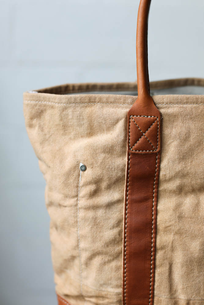 Folk Fibers x Forestbound Dyed Tote Bag - Pecan