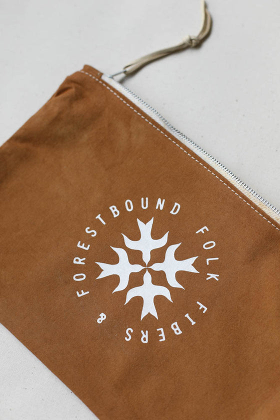 Folk Fibers x Forestbound Logo Zip Pouch