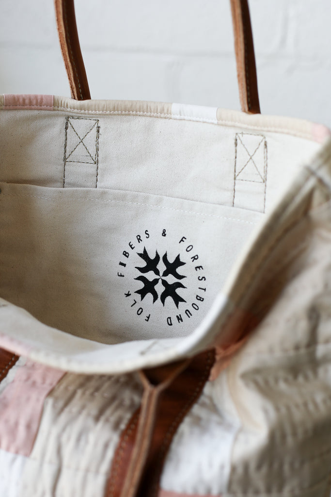 Folk Fibers x Forestbound Quilted Tote Bag No. 9